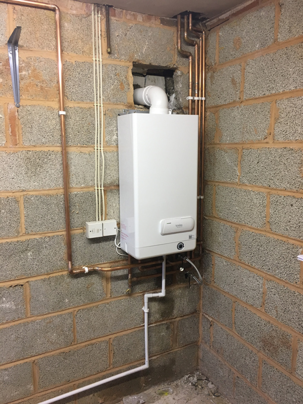Combination boiler installation from DSB
